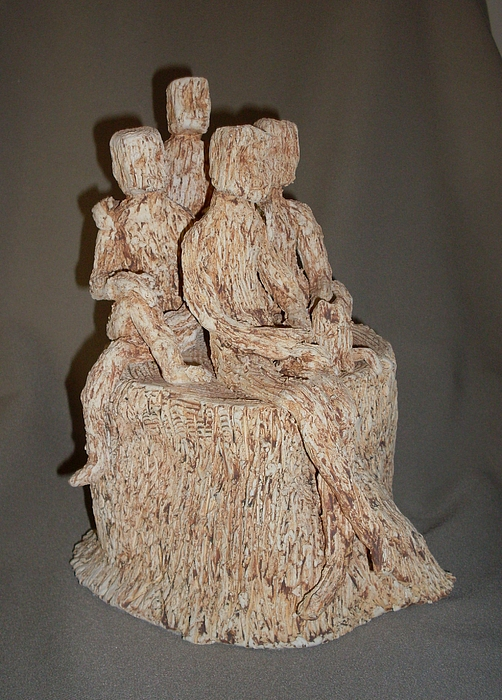 Stick People - Family Portrait Sculpture