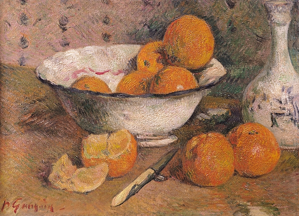 Still Life With Oranges Painting - Still Life With Oranges by Paul Gauguin