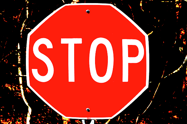 Stop Photograph - Stop by Karol Livote