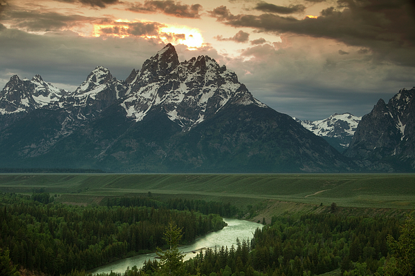 Grand Teton Photograph - Storm Clouds Over The Tetons by Andrew Soundarajan
