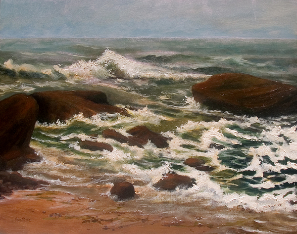 Seascape Painting - Storms Of Mercy by Jan Blencowe