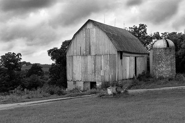 Barn Photograph - Stormy Barn by Perry Webster
