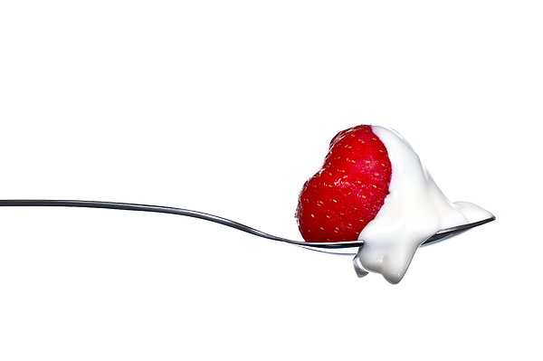 Strawberry And Cream Photograph
