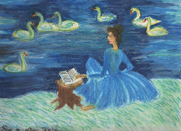 Swan Drawing - Study For Swan Lake Reader by Sushila Burgess