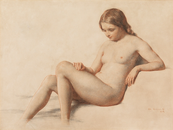 Study Of A Nude Drawing