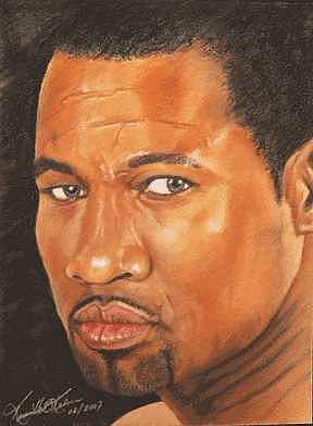 Boxer Painting - Sugar Shane Mosley by Kenneth Kelsoe