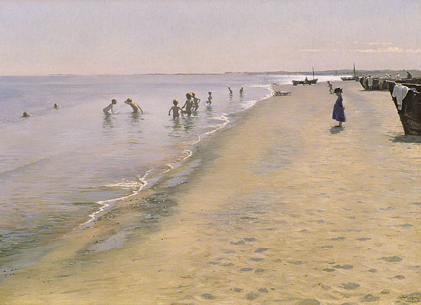 Summer Painting - Summer Day At The South Beach Of Skagen by Peder Severin Kroyer