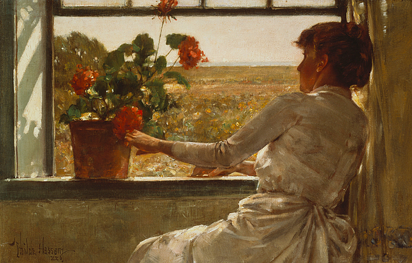 Summer Evening Painting - Summer Evening by Childe Hassam