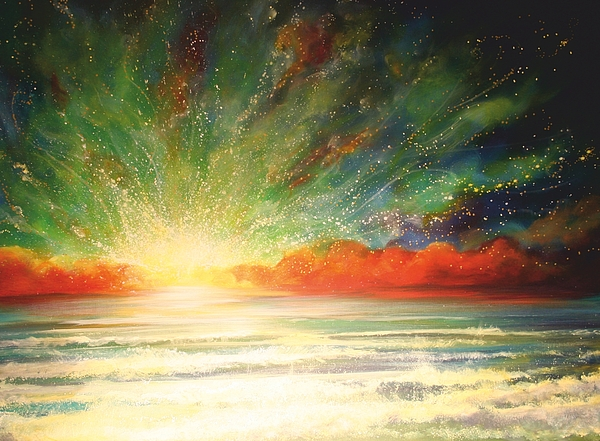 Sunset Painting - Sun Bliss by Naomi Walker