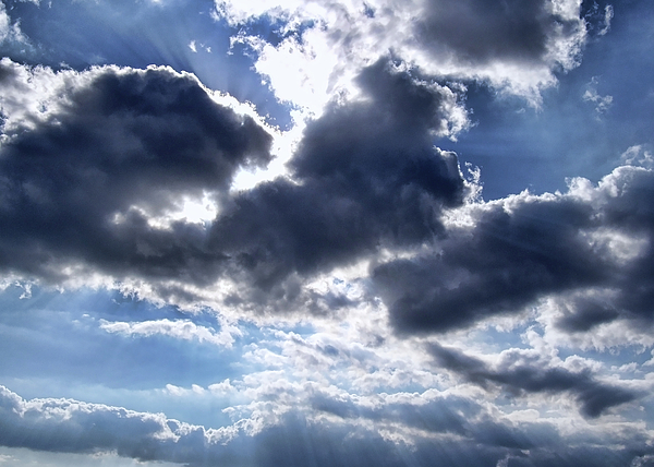 Clouds Photograph - Sun Breaking Through The Clouds by Mariola Bitner