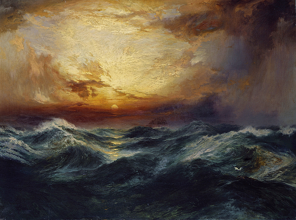 Sunset After A Storm Painting - Sunset After A Storm by Thomas Moran