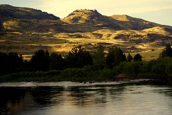 Yellowstone River Photograph - Sunset On The Yellowstone by Marty Koch