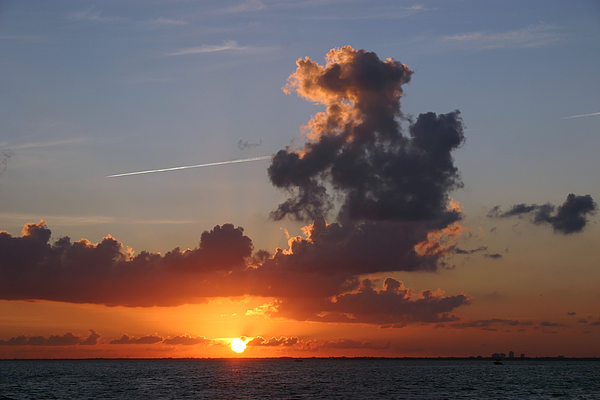 Sunset Over Biscayne Bay Photograph