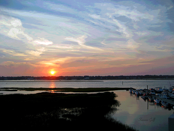 Sunset Photograph - Sunset Over Murrells Inlet II by Suzanne Gaff