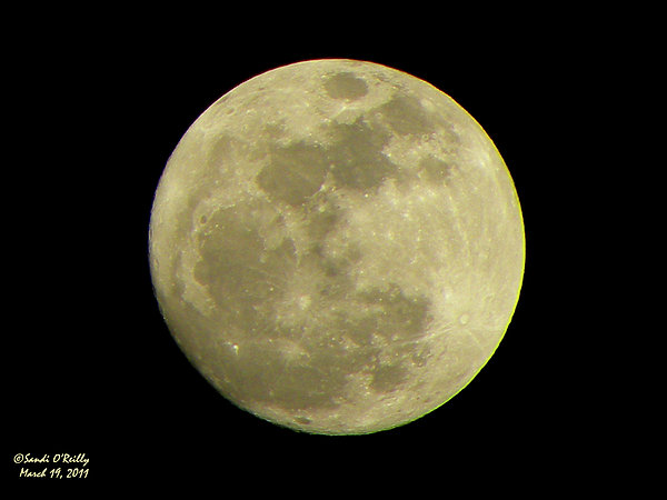 Super Moon Photograph - Super Moon March 19 2011 by Sandi OReilly