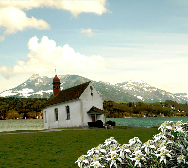 Landscape Photograph - Swiss Spring Version 3 by Chuck Shafer