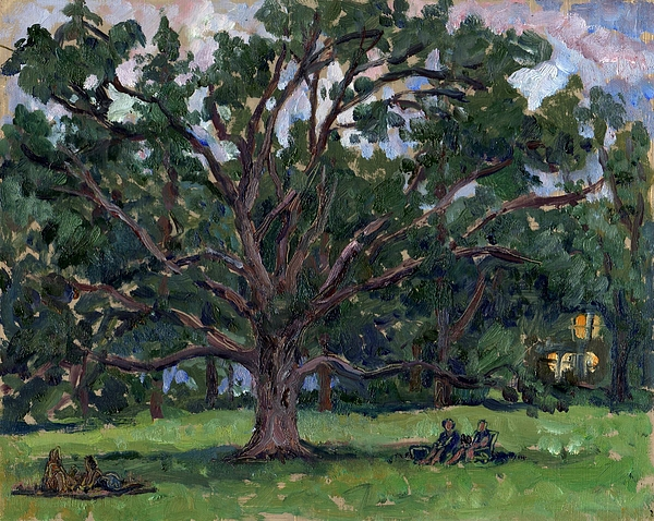 Oil Painting Painting - Tanglewood Tree by Thor Wickstrom