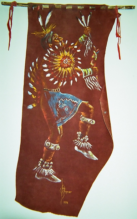 Native American Painting - Taos Indian Dancer by Lulu Brymer