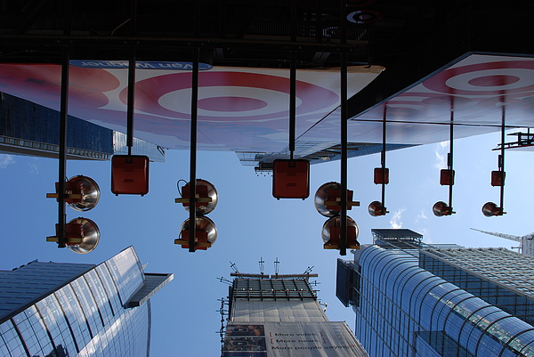 Architecture Photograph - Target Lights by Rob Hans