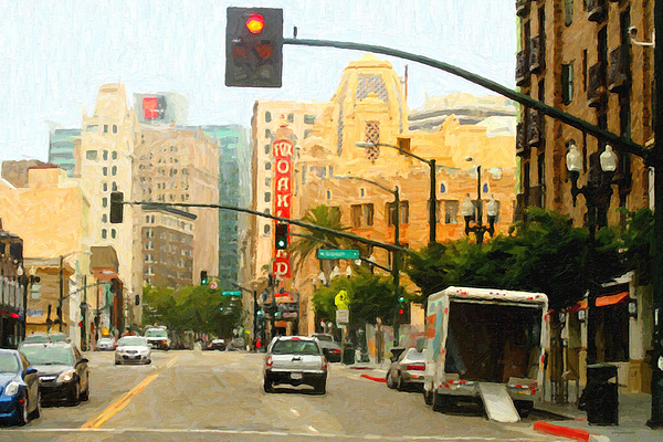 Oakland Photograph - Telegraph Avenue In Oakland California by Wingsdomain Art and Photography