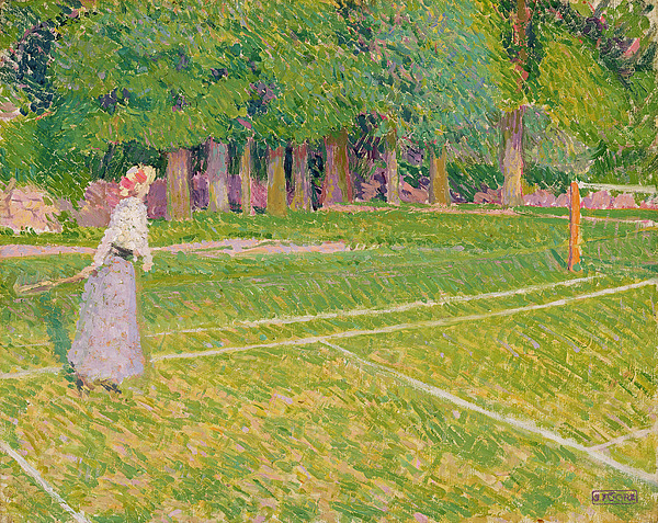 Tennis Painting - Tennis At Hertingfordbury by Spencer Frederick Gore
