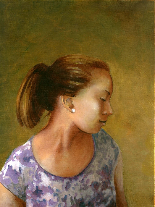 Portrait-custom Portrait-custom Oil Portrait-mary Kay Haneline-mary Catherine Haneline-mary Kay Haneline Artist-mary Catherine Haneline Artist-ohio Portrait Artist- Painting - Tessa by Mary C Haneline
