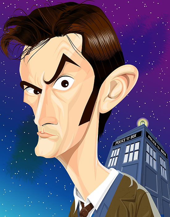 Doctor Who Digital Art - The 10th Doctor by Kevin Greene
