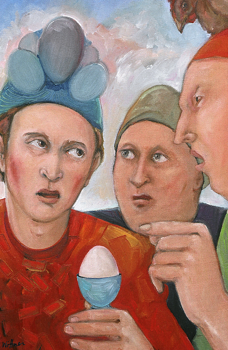 Paint Painting - The Age Old Debate by Paula Wittner