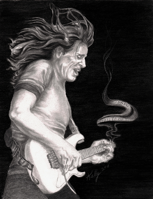 Steve Vai Drawing - The Audience Is Listening by Kathleen Kelly Thompson