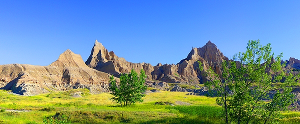 Panoramic Photograph - The Badlands Mural by Terril Heilman