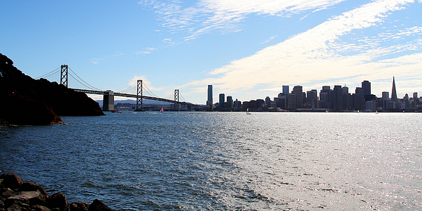 San Francisco Photograph - The Bay Bridge And The San Francisco Skyline Viewed From Treasure Island . 7d7771 by Wingsdomain Art and Photography