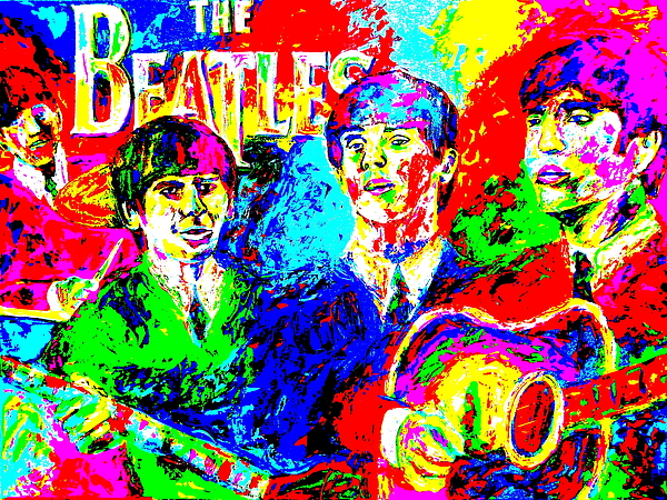 The Beatles Painting - The Beatles by Mike OBrien