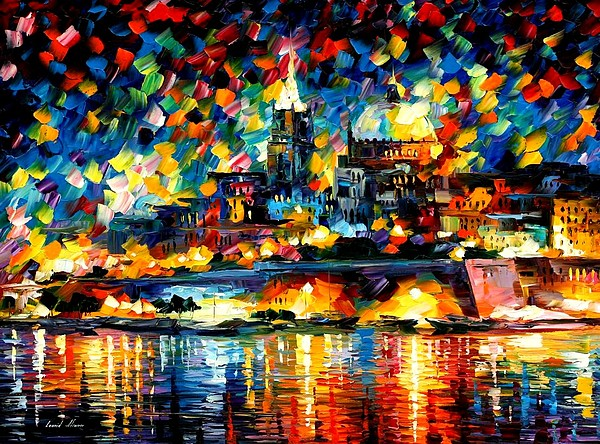 Afremov Painting - The City Of Valetta - Malta by Leonid Afremov