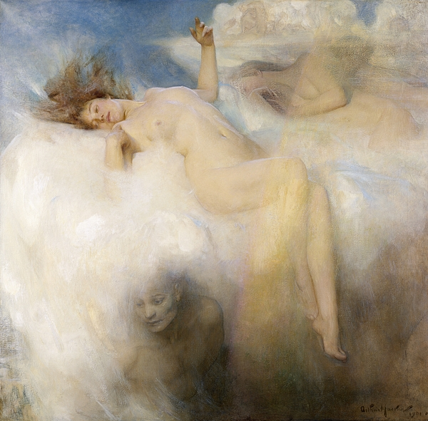 The Cloud Painting By Arthur Hacker