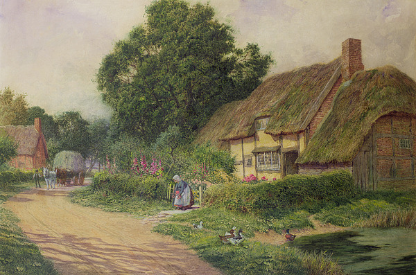 House Painting - The Coming Of The Haycart  by Arthur Claude Strachan