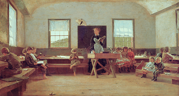 The Country School Painting - The Country School by Winslow Homer