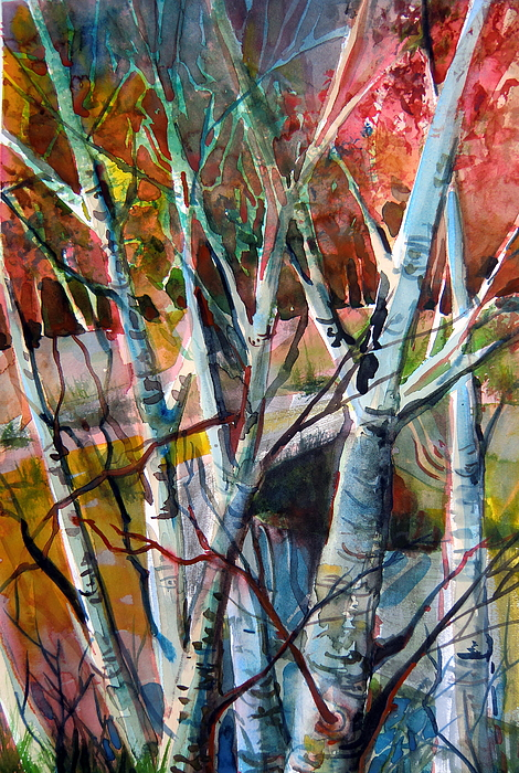 Autumn Painting - The Cries Of Autumn by Mindy Newman