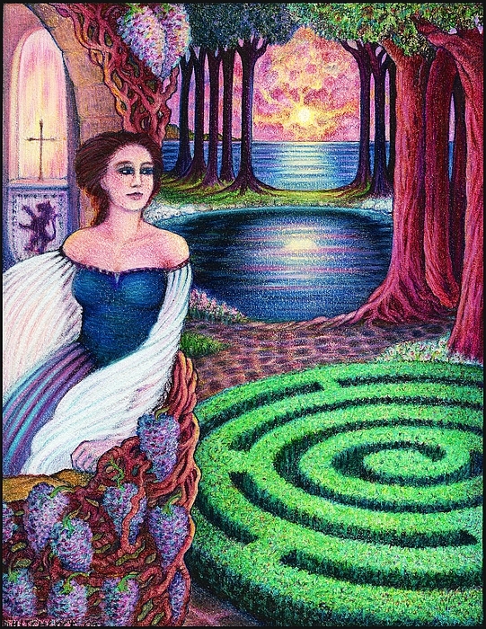 Mythology Drawing - The Dreamer by Debra A Hitchcock