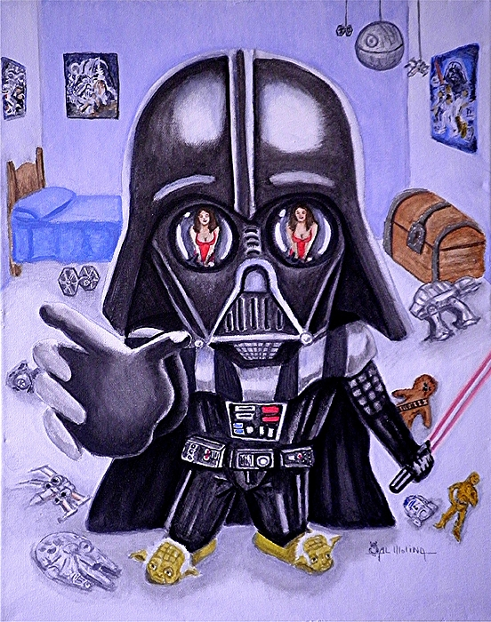 Star Wars Painting - The Force Is Strong With This One by Al  Molina