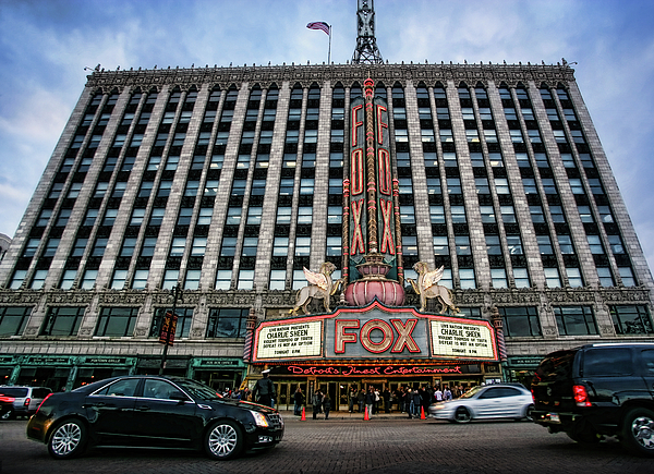 Fox Theatre Photograph - The Fox Theatre In Detroit Welcomes Charlie Sheen by Gordon Dean II