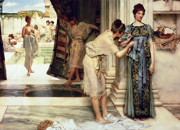 The Painting - The Frigidarium by Sir Lawrence Alma-Tadema