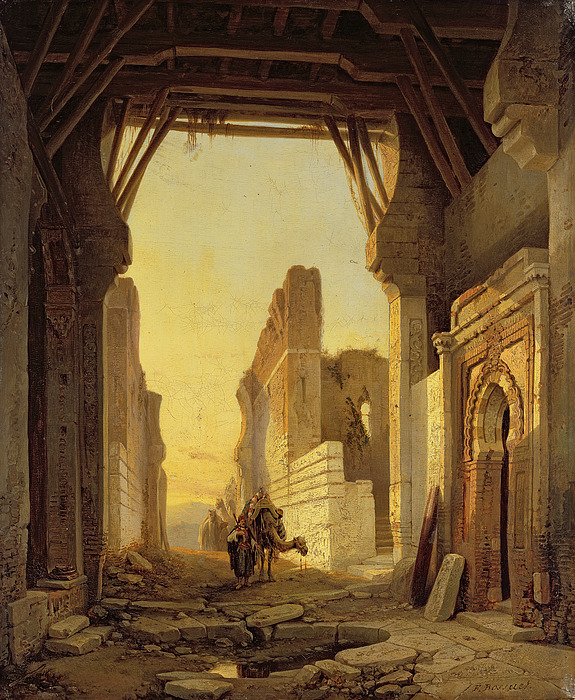 The Gates Of El Geber In Morocco Painting