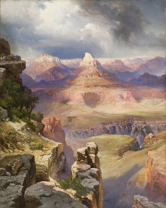 The Grand Canyon Painting - The Grand Canyon by Thomas Moran