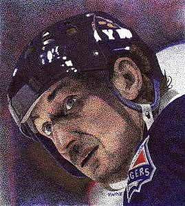 Wayne Gretzky Portrait Drawing - The Great One by Rob Payne