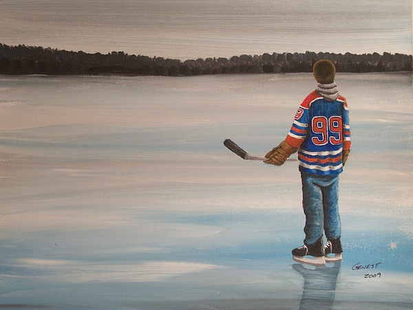 Gretzky Painting - The Great One by Ron  Genest