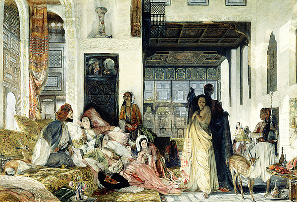 The Painting - The Harem by John Frederick Lewis