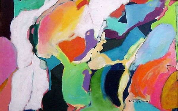 Abstract Painting - The Heart Of The Matter by Bernard Goodman