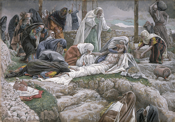 The Painting - The Holy Virgin Receives The Body Of Jesus by Tissot