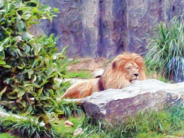 The King At Rest Painting - The King At Rest by Methune Hively