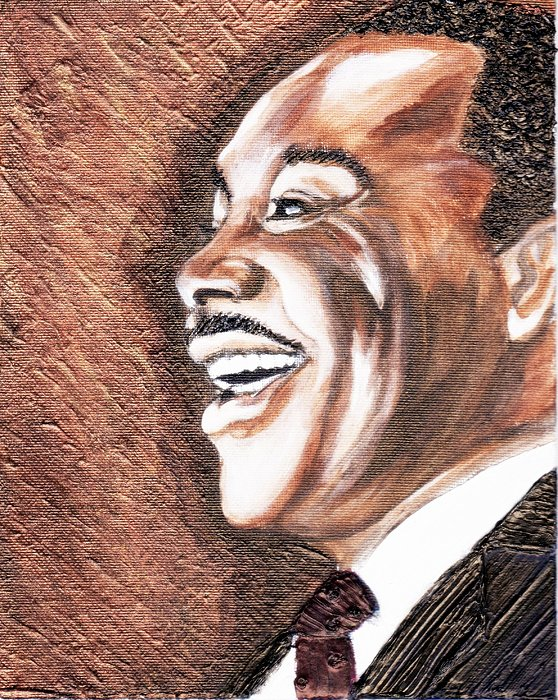 Martin L King Painting - The King Smiles by Keenya  Woods